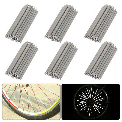 2Pcs Bicycle Bike Wheel Reflector Spoke Reflective Mount Vintage Clip Warning RS