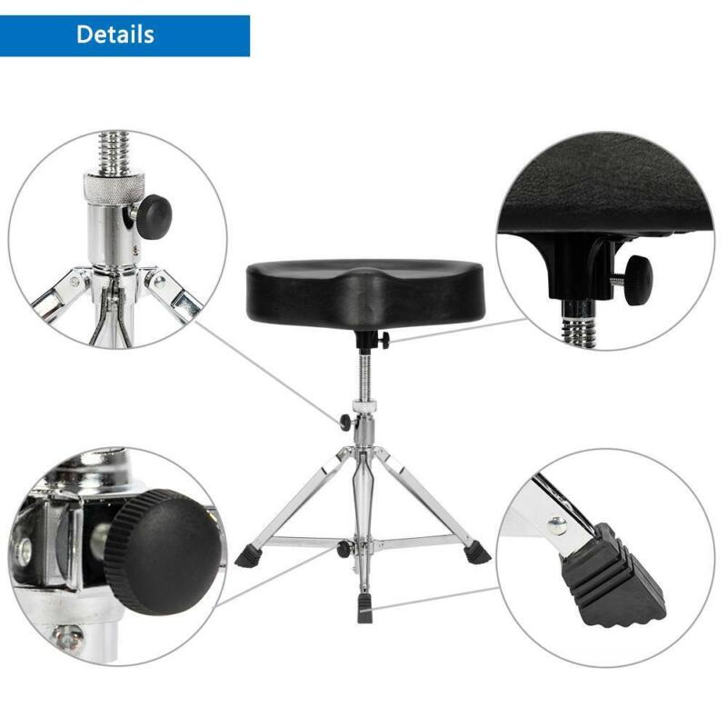 Drum Throne Stool Drummers Seat Adjustable Drumming Padded Chair Percussion