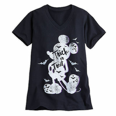 Disney Store Mickey Mouse Halloween Trick or Treat Womens Shirt XS M XL 3XL 4XL