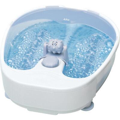 Fuß-massagegerät (AEG Fußmassagegerät FM 5567 Fußsprudelbad Fußbad Sprudelmassage weiß/grau)