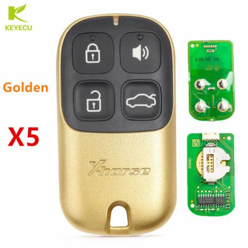 5PCS XHORSE Universal Golden Color Remote Key Fob 4Btn for VVDI Key Tool VVDI2