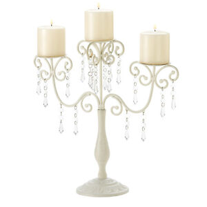 Iron Ivory Elegance Candelabra Perfect Wedding Centerpiece 16.25