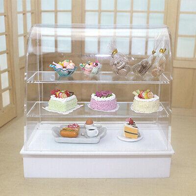 Doll House Miniature Shop Display Bakery Cake Cabinet Shelving Model Decor C HB