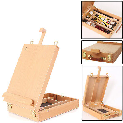 French Easel Artist Wooden Table Top Desk Sketch Case Floor Easel Art Painters](Table Top Easels)