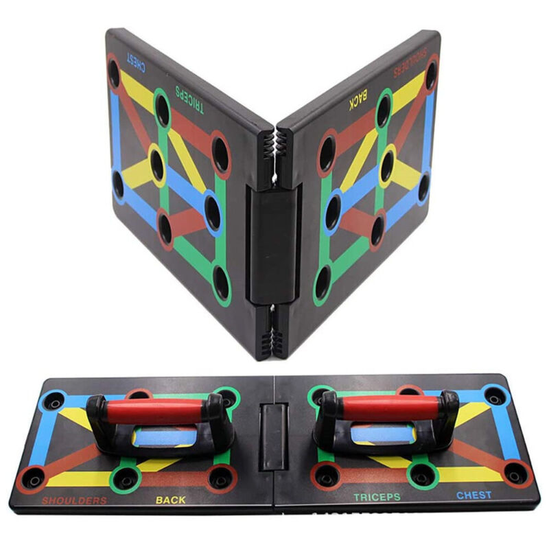 NEW Foldable 9 in 1 Push Up Rack Board Fitness Workout Train Gym Exercise Stands
