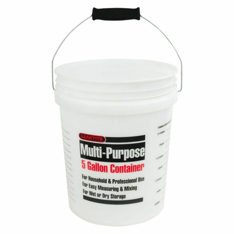Leaktite 005GFNAT120 Clear 5 Gallon Bucket