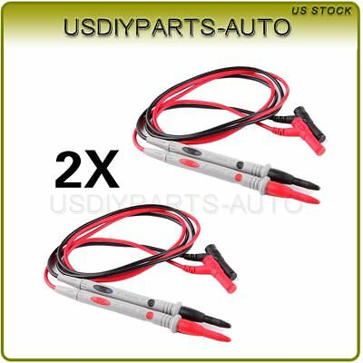 20a Digital Multimeter Needle Tip Probe Test Leads Pins Cable 2pcs