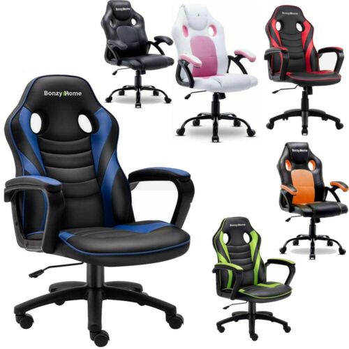 Racing Office Chair Swivel Leather High Back Gaming Computer Chairs Desk Seating