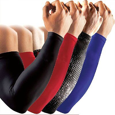 Cool Sports Cover Hand Arm Elbow Protector Gear Basketball Football Long Sleeves
