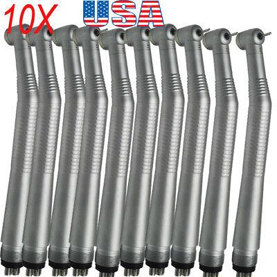 10pc Dental High Speed Handpiece Standard Push Button 1w 4-hole Turbine Fit Nsk