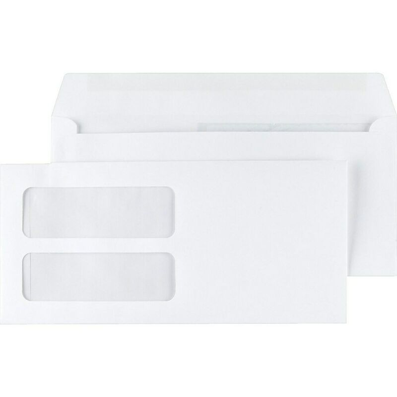 Staples Double-Window Gummed Envelopes for Laser Forms 500/Box (473949/19049)