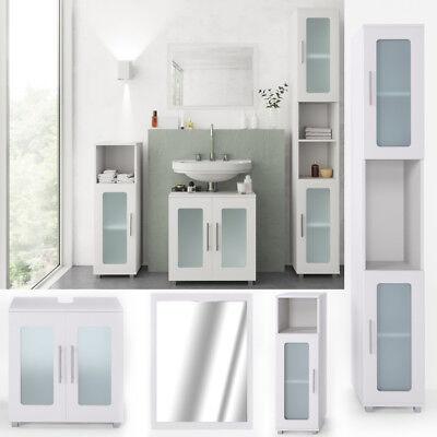 VICCO Badmöbel Set RAYK Weiß - Bad Spiegel Waschtisch Unterschrank Badschrank