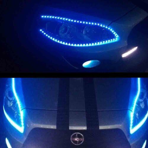 4pcs Car Motors Truck Flexible LED Strip Lights 12V Waterproof  30CM/15 Blue LED