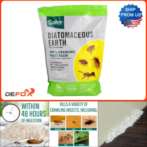4 LB Diatomaceous Earth Insect Killer Powder Insect Pest Control Re-Sealable Bag