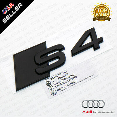 OEM ABS Nameplate Audi S4 Blackout Emblem 3D Trunk Logo Badge Decoration Sport