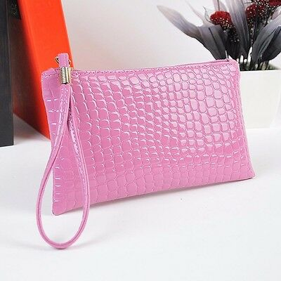 Women Shoulder Bag Crocodile Leather Clutch Messenger Handbag Coin Purse sy