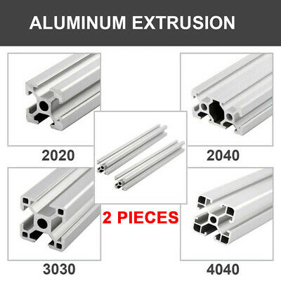 2pcs 2020 2040 3030 4040 T-slot Frame Aluminum Extrusion Profile Cnc 3d Printer