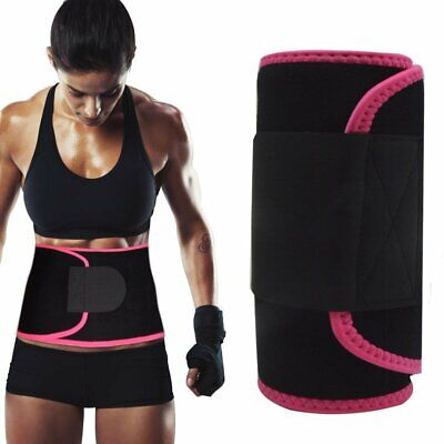 Waist Trimmer,Best Abdominal Trainer Adjustable Sweat Belt AB Belt Stomach Fat