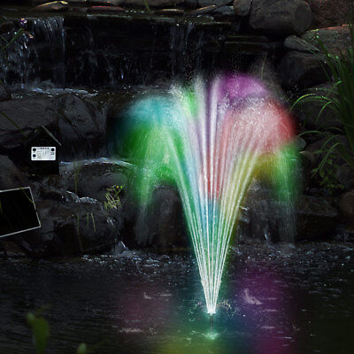 LED Wasserspiel Solarpumpe mit Akku DEUBA Springbrunnen Gartenbrunnen Teichpumpe