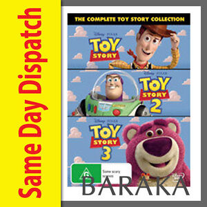 Toy Story 1, 2, & 3 DVD set 1 - 3 Walt Disney Pixar R4 New Sealed