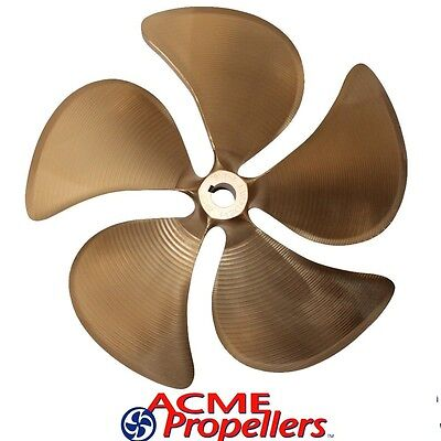 "Acme 14.5 x 12.5 Inboard Propeller Right Hand Nibral Cupped 1 1/8"" Bore 5 Blade"