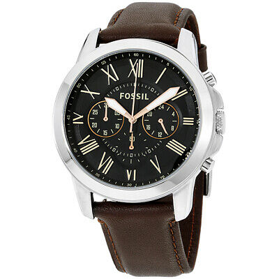 Fossil Grant Quartz Movement Black Dial Men's Watch FS4813