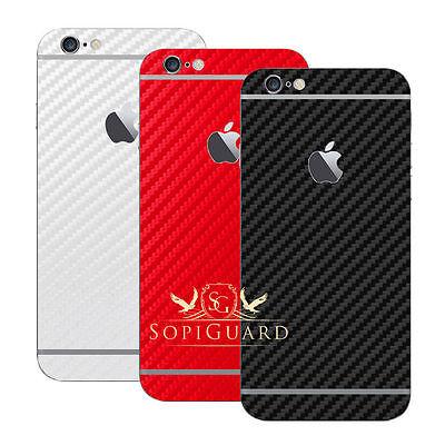 SopiGuard Carbon Fiber Triple Pack Rear Skin for iPhone 6 6S Plus 4.7 5.5 Iphone Skin Pack