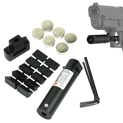 (Black Universal Compact Red Laser Sight for Pistol Handgun Trigger Guard Mount)