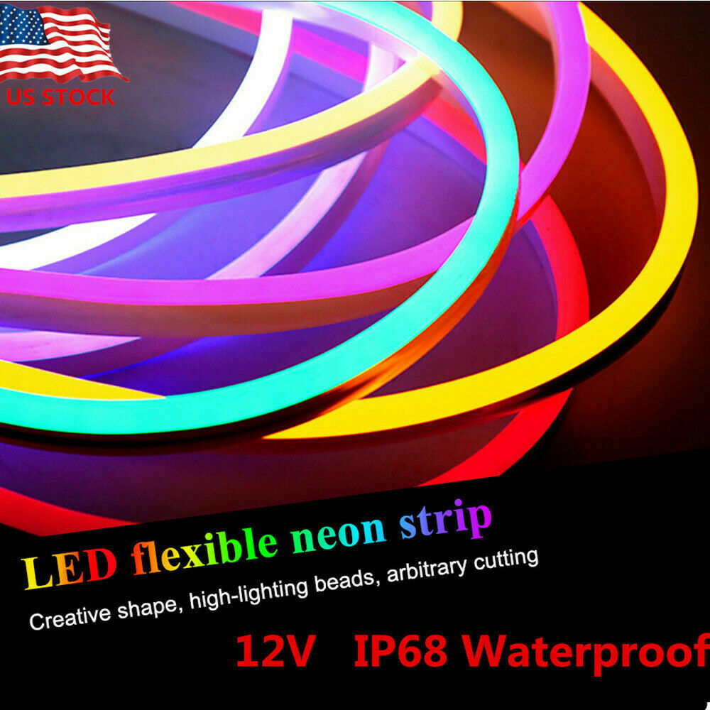 1m Flexible LED Strip Waterproof Neon Glow Lights Silicone T