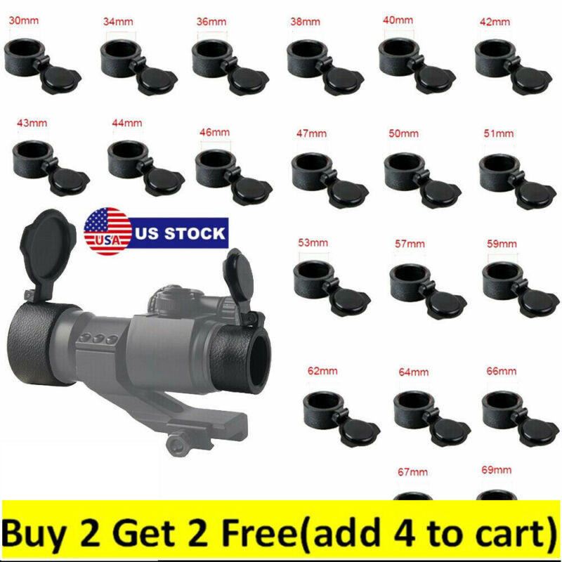 24 Size Scope Lens Cover Flip Up Cap Objective Lense Lid Quick Spring Protect US