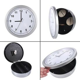 Secret Wall Clock Home Safe Valuables Money Box Stash Cash Jewellery Gold FREE PP £20