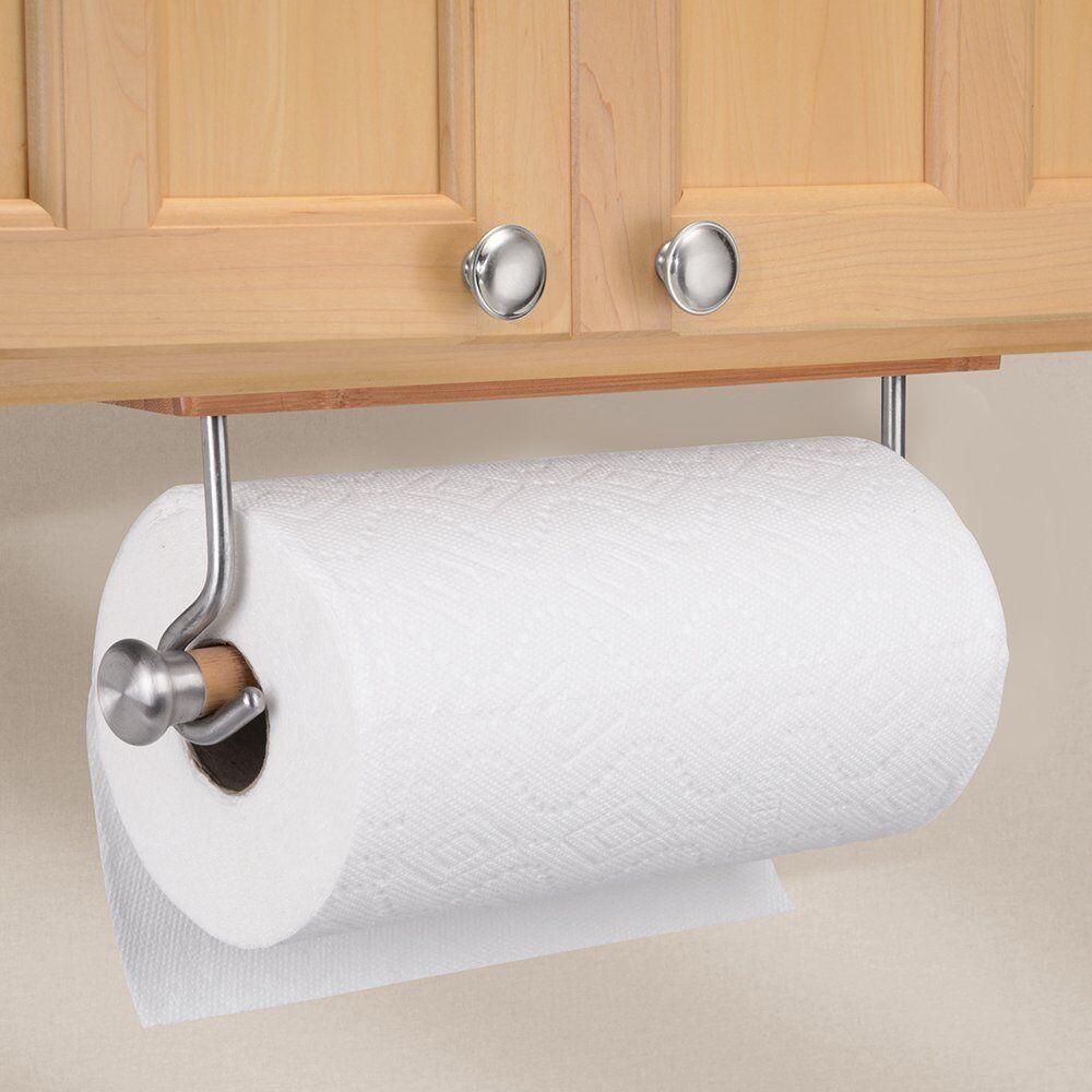 InterDesign Formbu Bamboo Wall Mount Paper Towel Holder, Sta