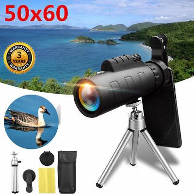 50X60 HD Fernglas Monokular Teleskop Fernglas Fernrohr mit Stativ für Handy DE