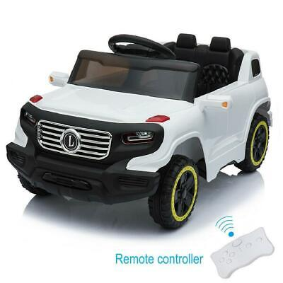 Kids Ride on Car Toys Electric Battery Power 3 Speed Mode + Remote Control White