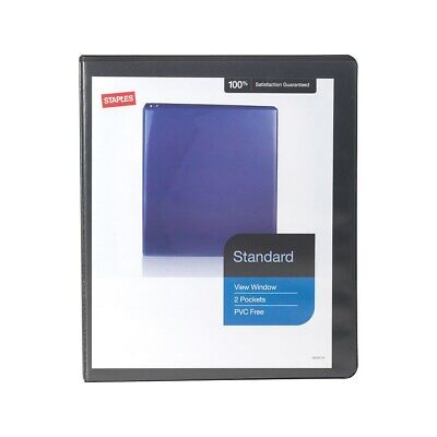 Staples Standard 12 3-ring View Binder Black 26425-cc 82616