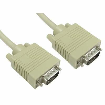 1m Super VGA SVGA PC Laptop Monitor Cable Lead Male To Male...