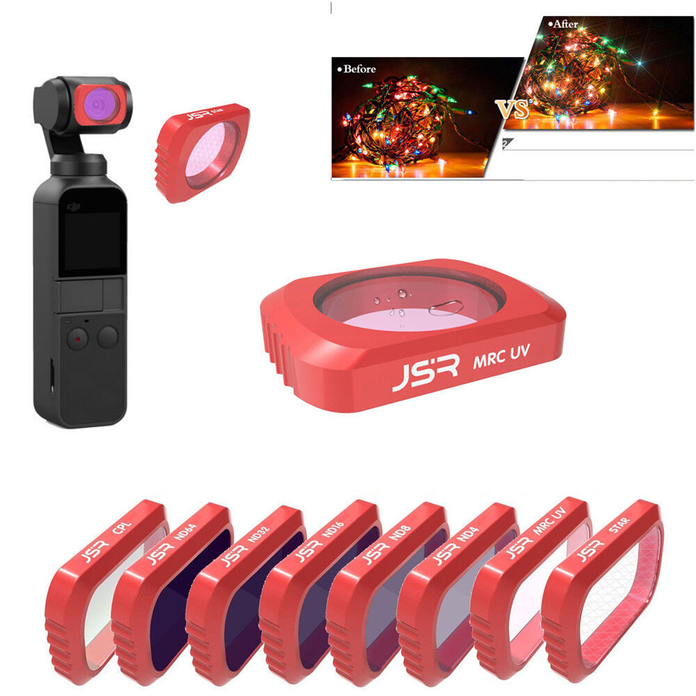 CPL 3PCs Light Weight Camera Lens Filters Kit For DJI OSMO POCKET ND16 For Shooting /& Capturing Images /& Videos ND8