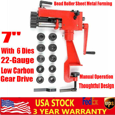 7 Bead Roller Kit Sheet Metal Forming Bead Roller Steel Bender Low Carbon Usa