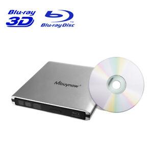 External Blu-Ray Burner USB 3.0 Drive Disc Player BD Writer for PC Laptop Mac