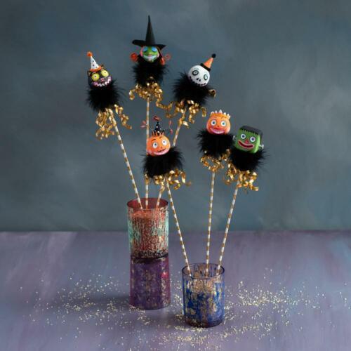 GLITTERVILLE ~ Spooky Kook Magic Wands~ Frankie Glitterstein (Frankenstein)