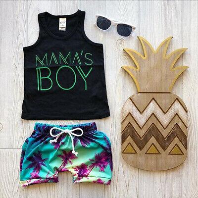 Summer Toddler Kids Baby Boy Clothes T-shirt Top Shirt Shorts Pants Outfits Sets ()