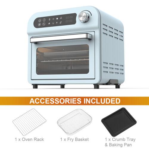 10QT Air Fryer Oven 1500W Toaster Dehydrator Roaster Cooker Muti-functional Blue