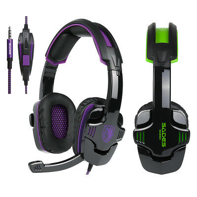 noise cancellation stereo music game headphones mic