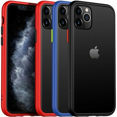 For iPhone 11 Pro Max Case Shockproof Matte PC Protective Hybrid Defender Cover