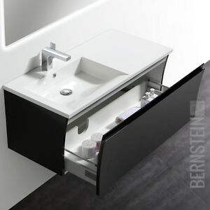 bernstein badm bel set 100cm waschbecken unterschrank wei. Black Bedroom Furniture Sets. Home Design Ideas