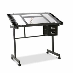 Artiss Adjustable Drawing Desk - Black and Grey
