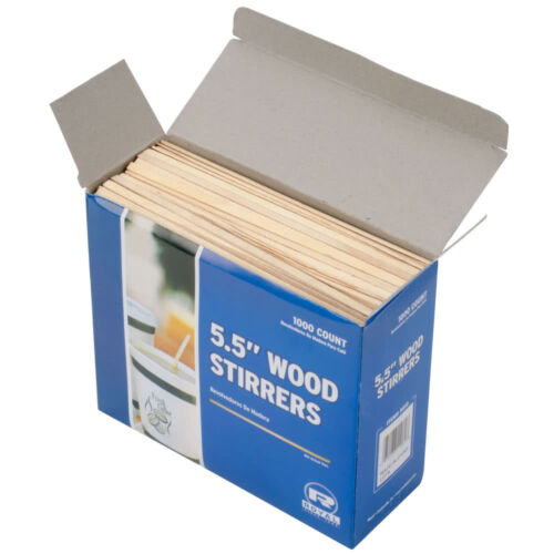 """Royal Wood Coffee Stirrers 1000 5.5"""" Eco Friendly FREE SHIPPING US ONLY"""