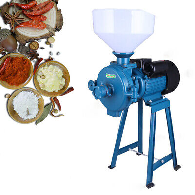 Dry Feed/Flour Mills Grinder Machine Milling Cereal Grain Corn Rice+Funnel TOP