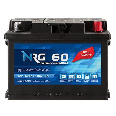 NRG Autobatterie 12V 60Ah NRG Starterbatterie 54Ah 55Ah 62Ah 63Ah 64Ah 65Ah