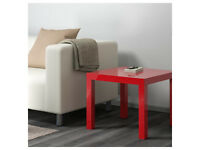 LACK Side Table, high-gloss surface, red, new